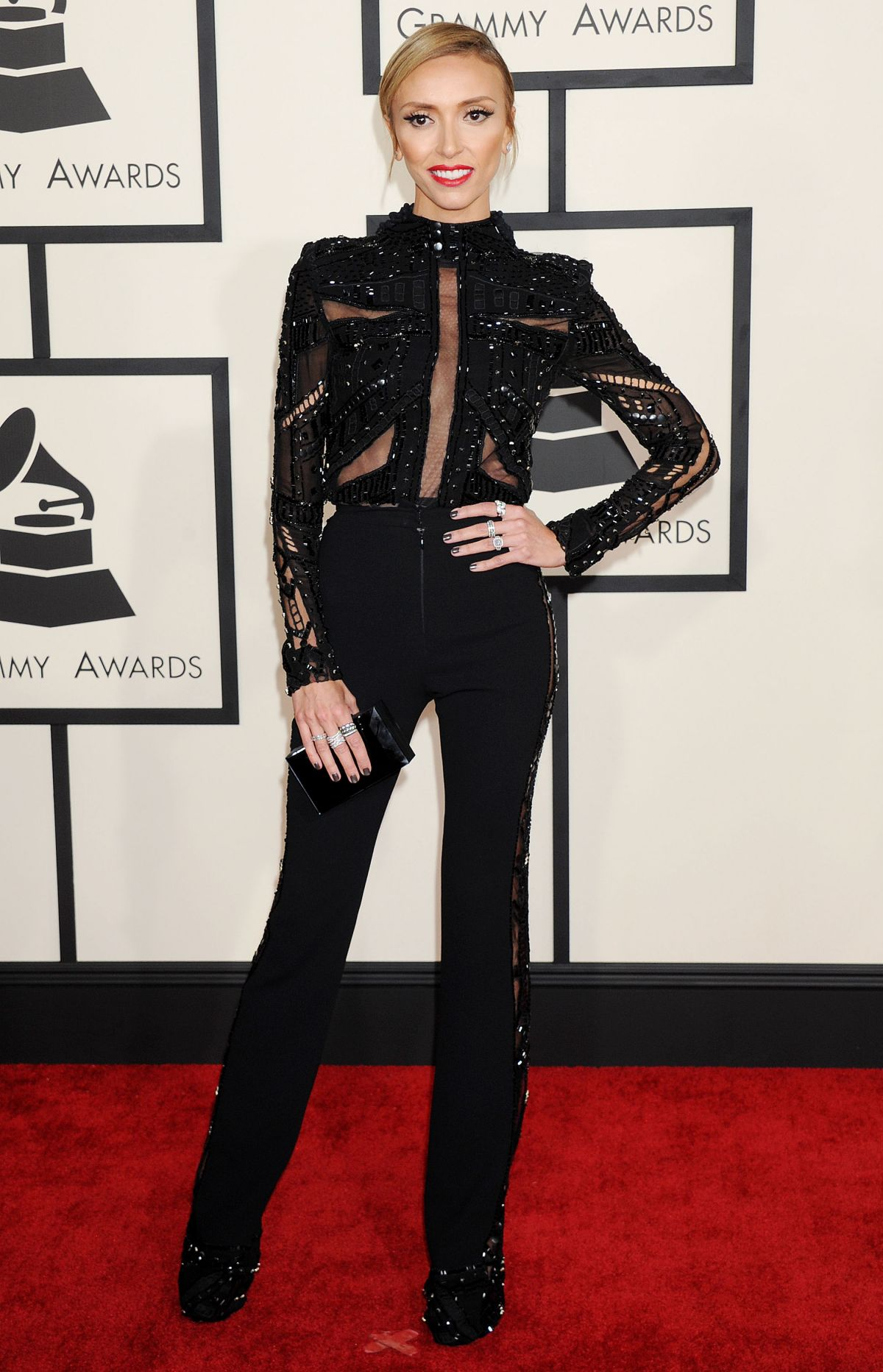 GIULIANA RANCIC at 2015 Grammy Awards in Los Angeles