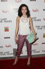 GRACE PHIPPS at The Last Five Years Premiere in Los Angeles