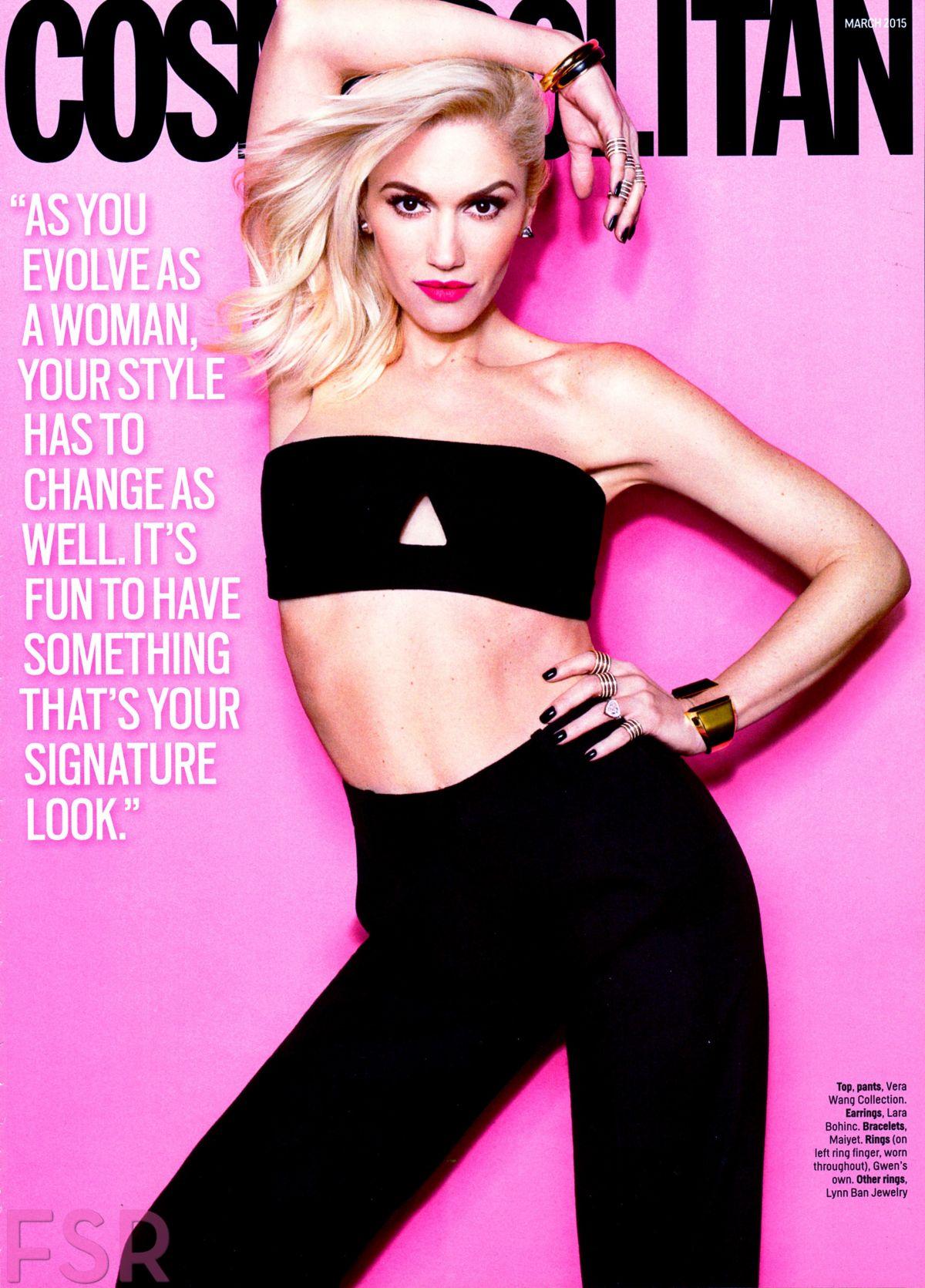 GWEN STEFANI in Cosmopolitan Magazine, March 2015 Issue