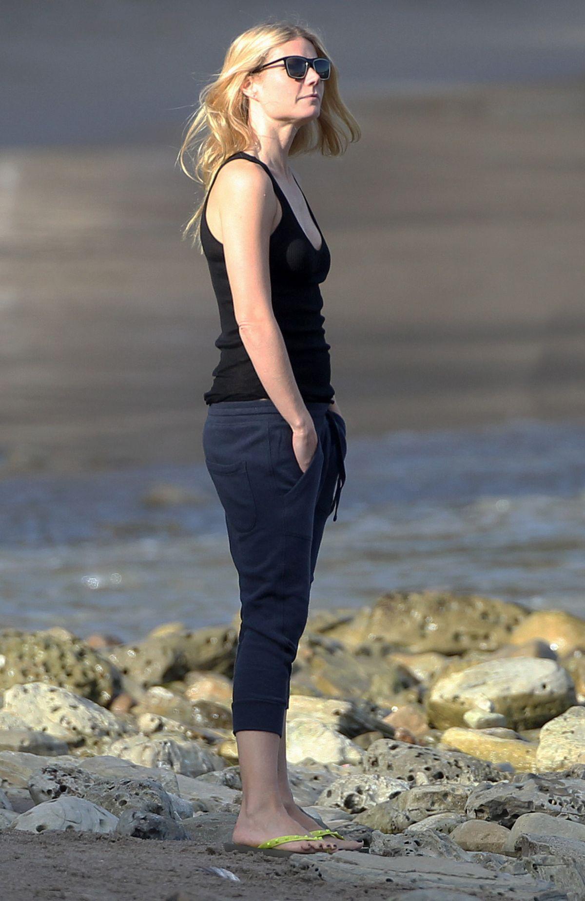 Gwyneth Paltrow At A Beach In Malibu Hawtcelebs