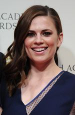 HAYLEY ATWELL at 2015 EE British Academy Film Awards in London
