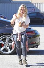 HILARY DUFF Arrives at a Recording Studio in Los Angeles