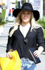 HILARY DUFF in Ripped Jeans Out and About in West Hollywood 1602