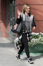 HILARY DUFF Out and About in West Hollywood 2002
