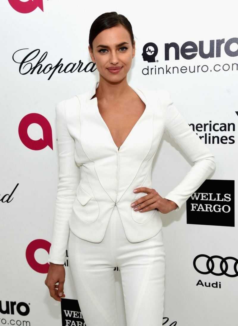 IRINA SHAYK at Elton John Aids Foundation's Oscar Viewing Party