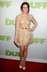 ITALIA RICCI at The Duff Premiere in Hollywood