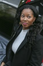 JAMELIA Arrives at a Studio in London