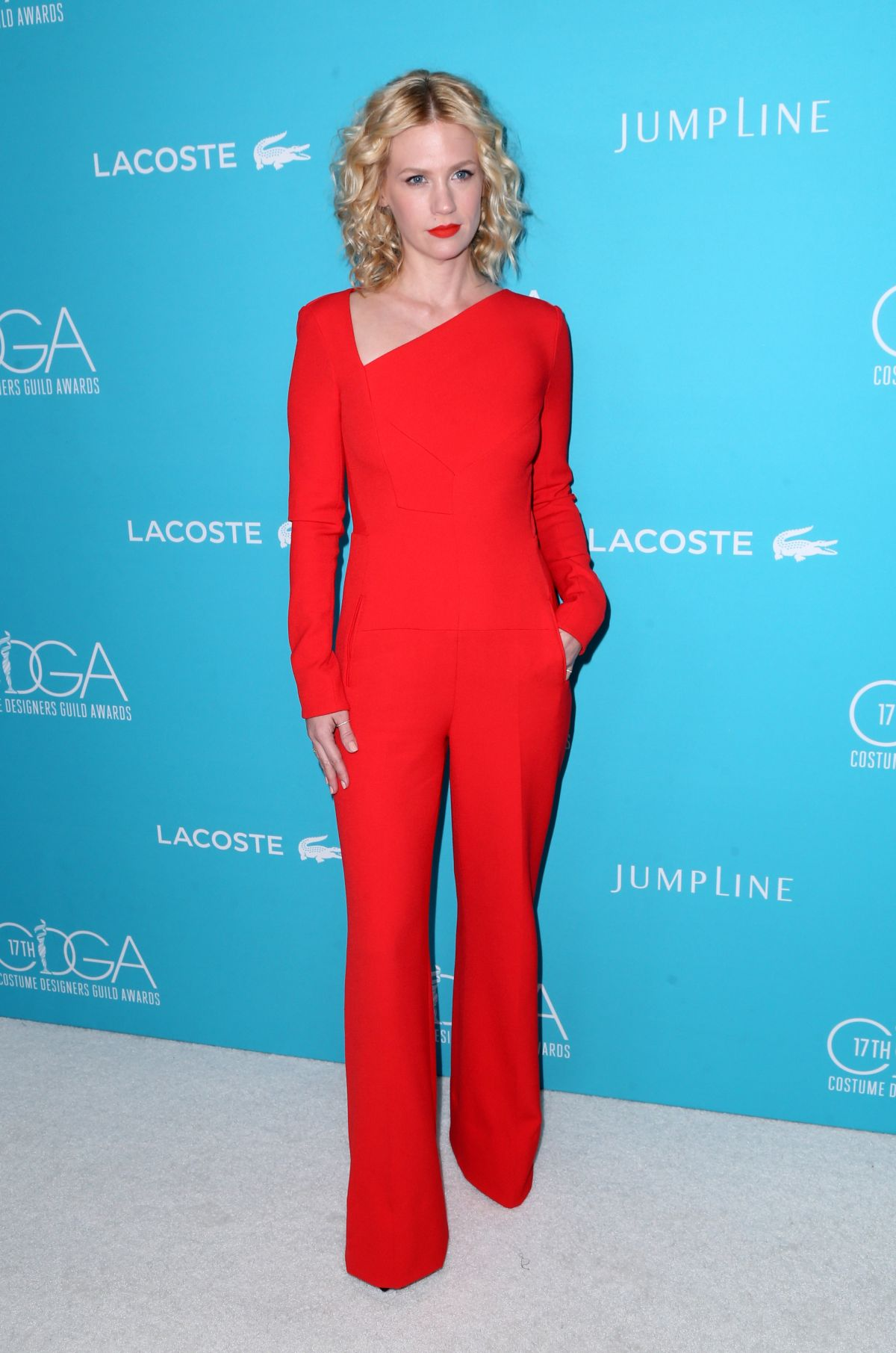 JANUARY JONES at 2015 Costume Designers Guild Awards in Beverly Hills