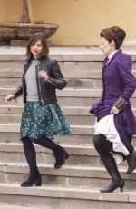 JENNA LOUISE COLEMAN on the Set of Doctor Who in Tenerife