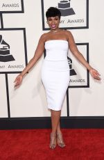 JENNIFER HUDSON at 2015 Grammy Awards in Los Angeles