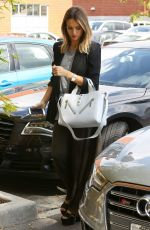 JESSICA ALBA Arrives to Her Office in Santa Monica