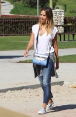 JESSICA ALBA at Coldwater Canyon Park in Beverly Hills 0802