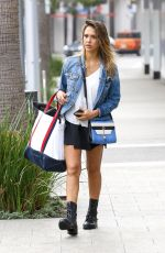 JESSICA ALBA Leaves a Soul Cycle in Los Angeles