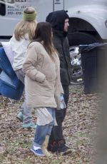 JESSICA BIEL on the Set of The Devil and The Deep Blue Sea in New Orleans