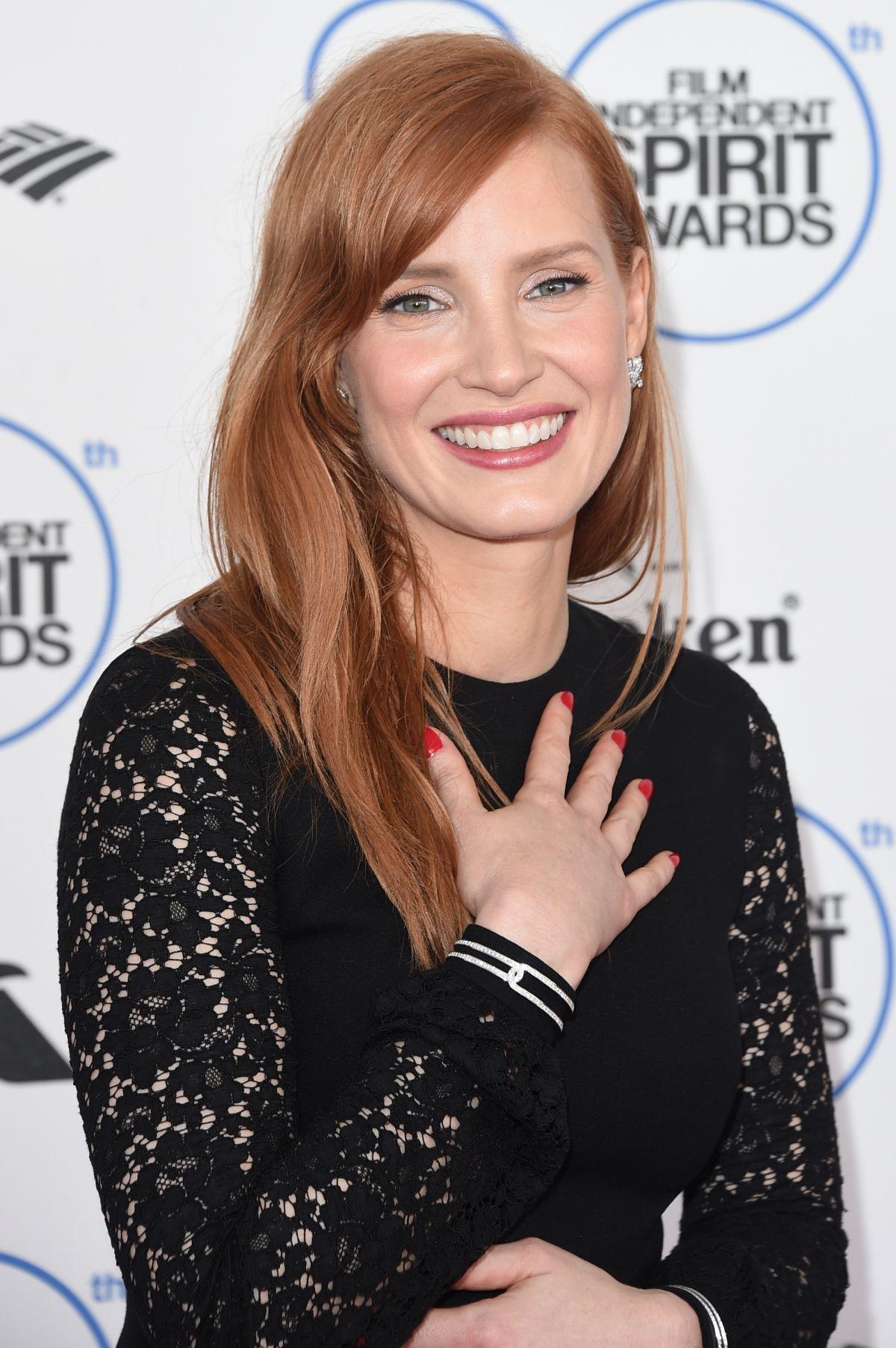 JESSICA CHASTAIN at 2015 Film Independent Spirit Awards in Santa Monica