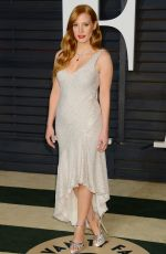 JESSICA CHASTAIN at Vanity Fair Oscar Party in Hollywood