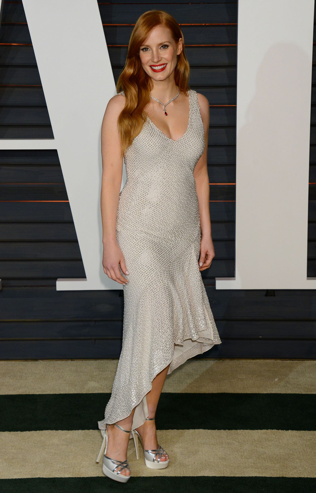 Jessica Chastain At Vanity Fair Oscar Party In Hollywood Hawtcelebs