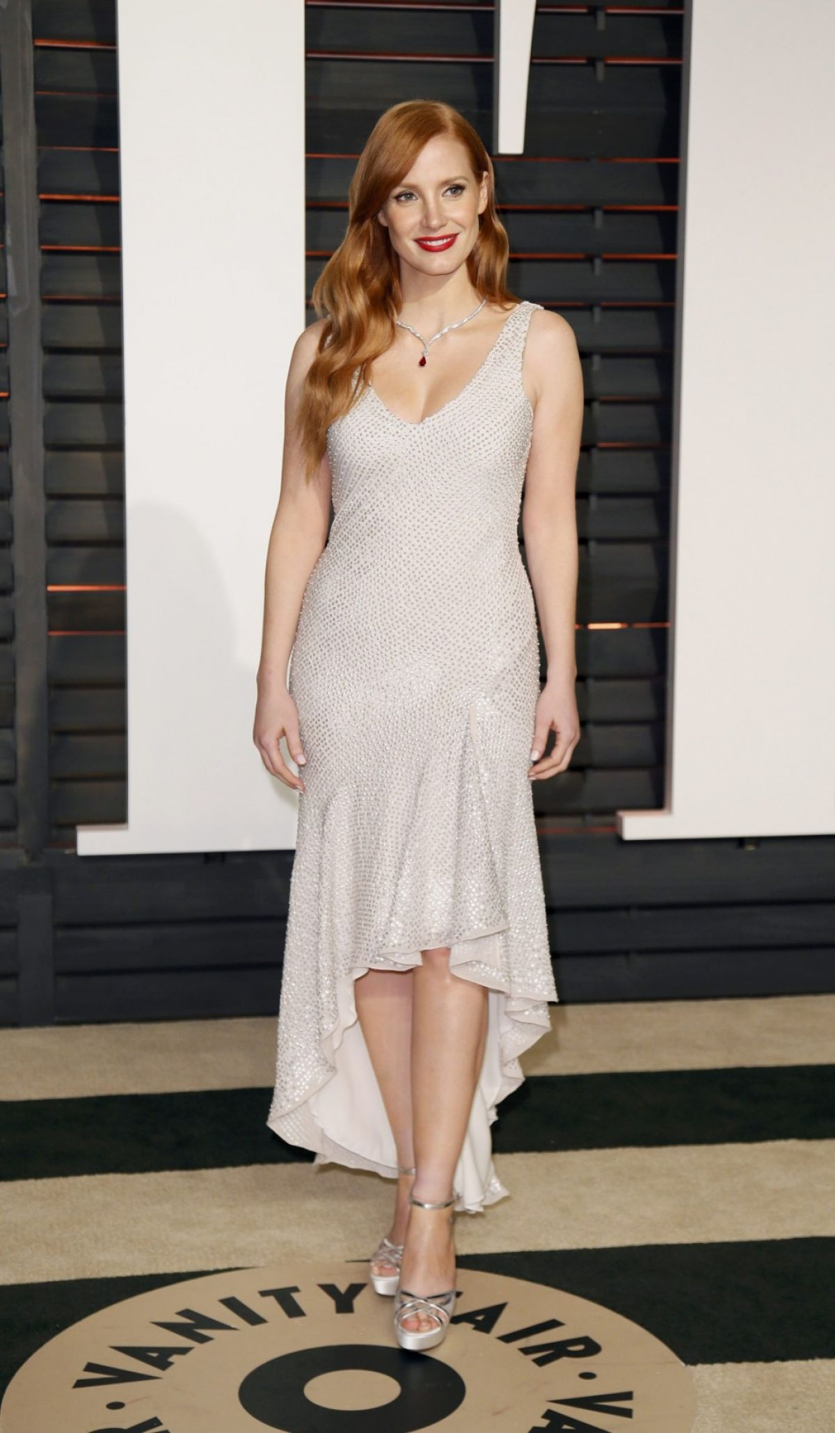JESSICA CHATAIN at Vanity Fair Oscar Party in Hollywood