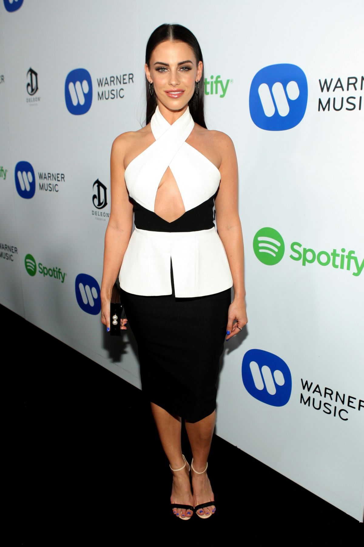 JESSICA LOWNDES at Warner Music Group Grammy After Party in Los Angeles