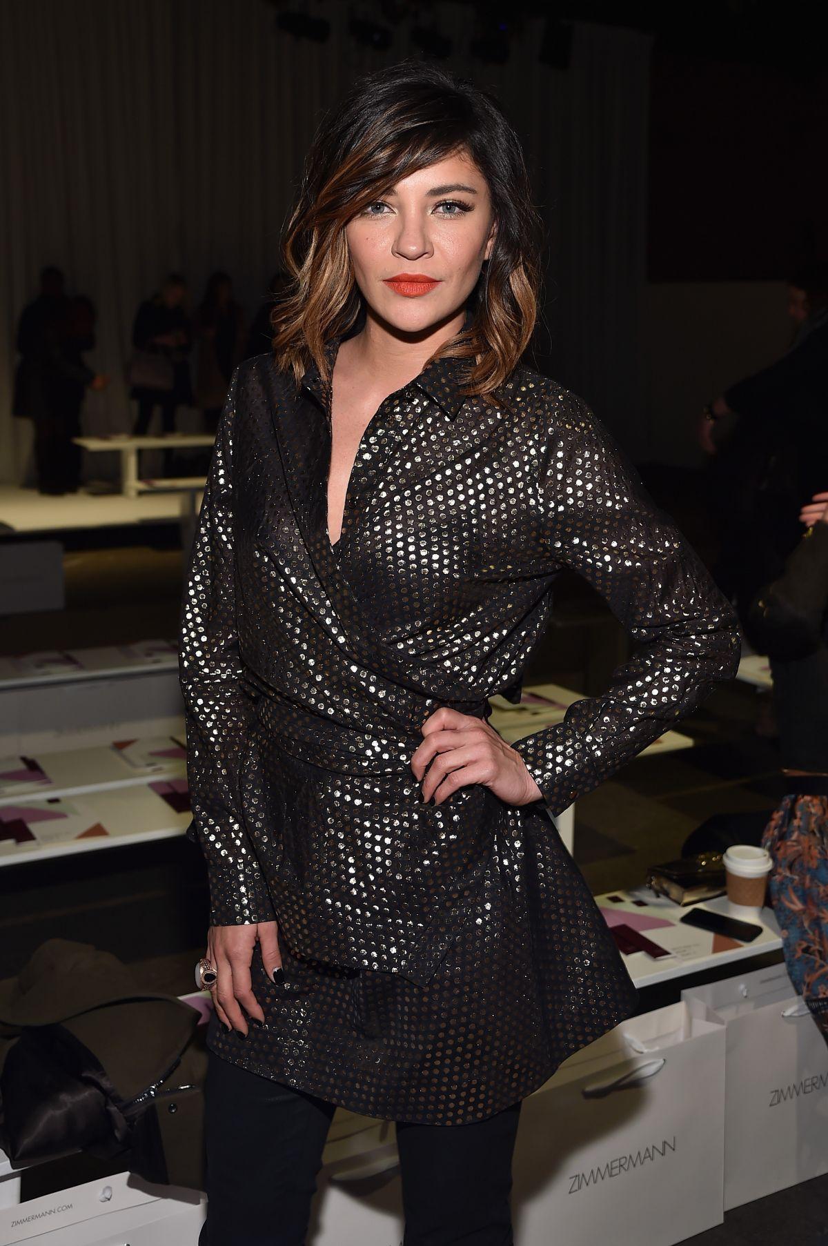 JESSICA SZOHR at Zimmermann Fashion Show in New York