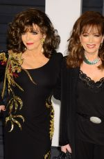 JOAN and JACKIE COLLINS at Vanity Fair Oscar Party in Hollywood
