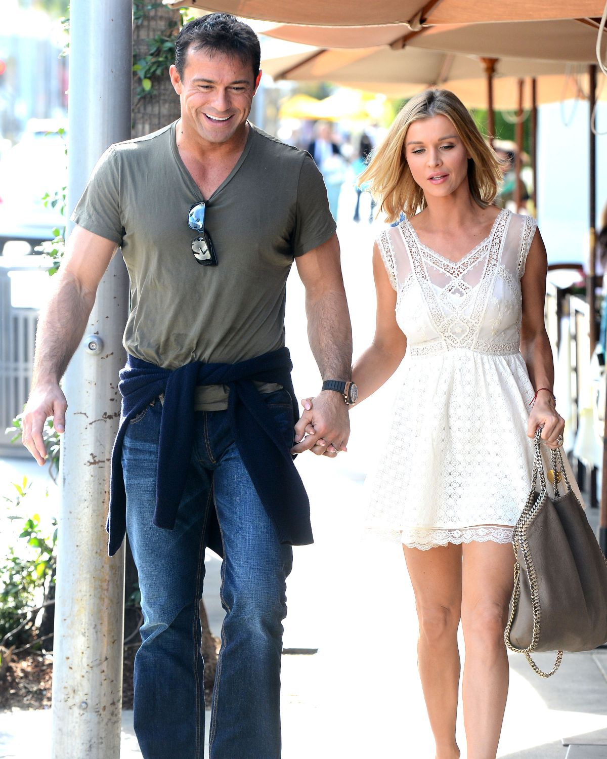 JOANNA KRUPA and Romain Zago Out in Beverly Hills