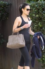 JORDANA BREWSTER in Leggings and Tanik Top Out in West Hollywood