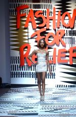 JOURDAN DUNN at Fashion for Relief Charity Fashion Show in London