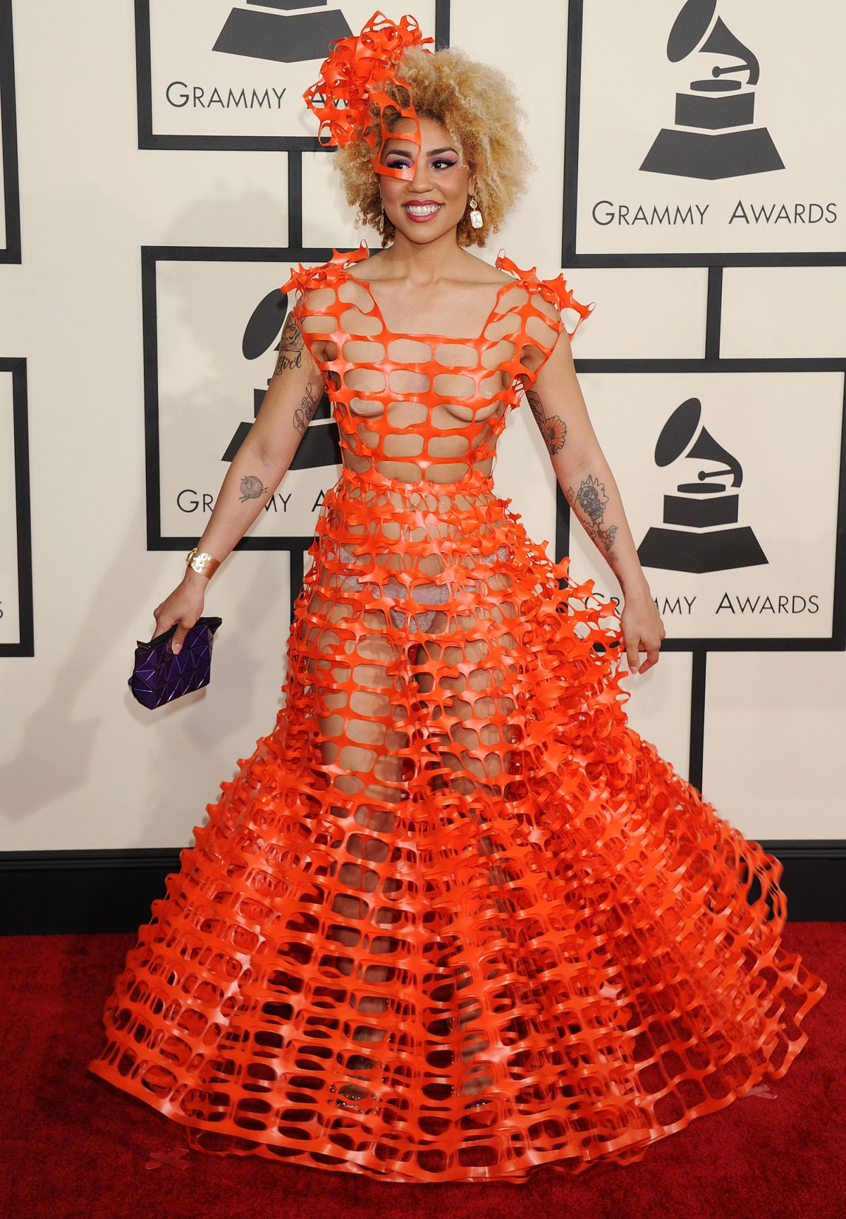 Joy Villa At 2015 Grammy Awards In Los Angeles Hawtcelebs