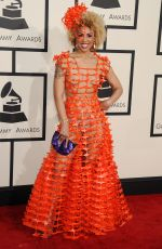 JOY VILLA at 2015 Grammy Awards in Los Angeles