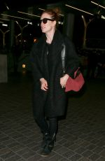 JULIANNE MOORE Arrives at LAX Airport in Los Angeles 0302
