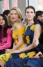 KATE HUDSON and ALLISON WILLIAMS at Michael Kors Fashion Show in New York