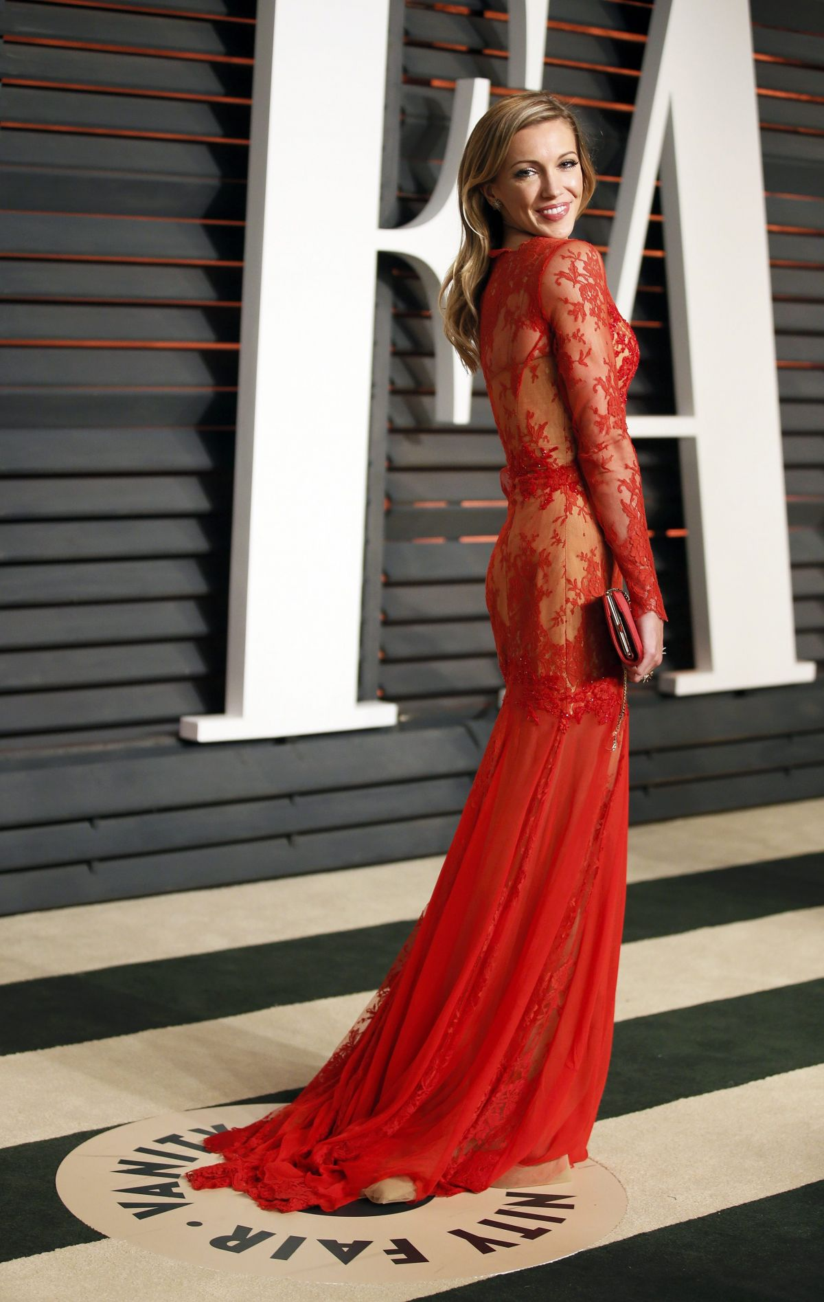 KATIE CASSIDY at Vanity Fair Oscar Party in Hollywood