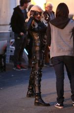 KATIE CASSIDY on the Set of Arrow in Vancouver 1702
