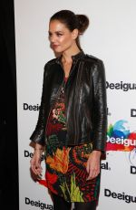 KATIE HOLMES at Desigual Fall 2015 Fashion Show in New York