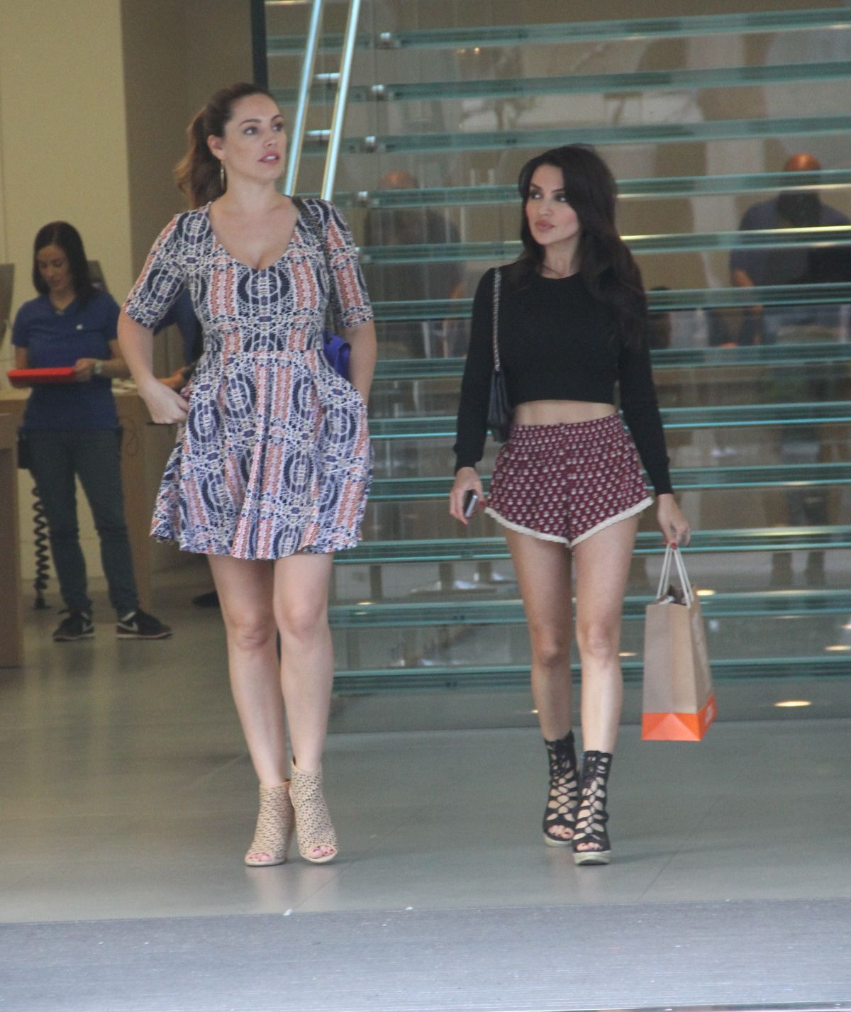 KELLY BROOK and NATALIE LOREN Shopping at Nike Town