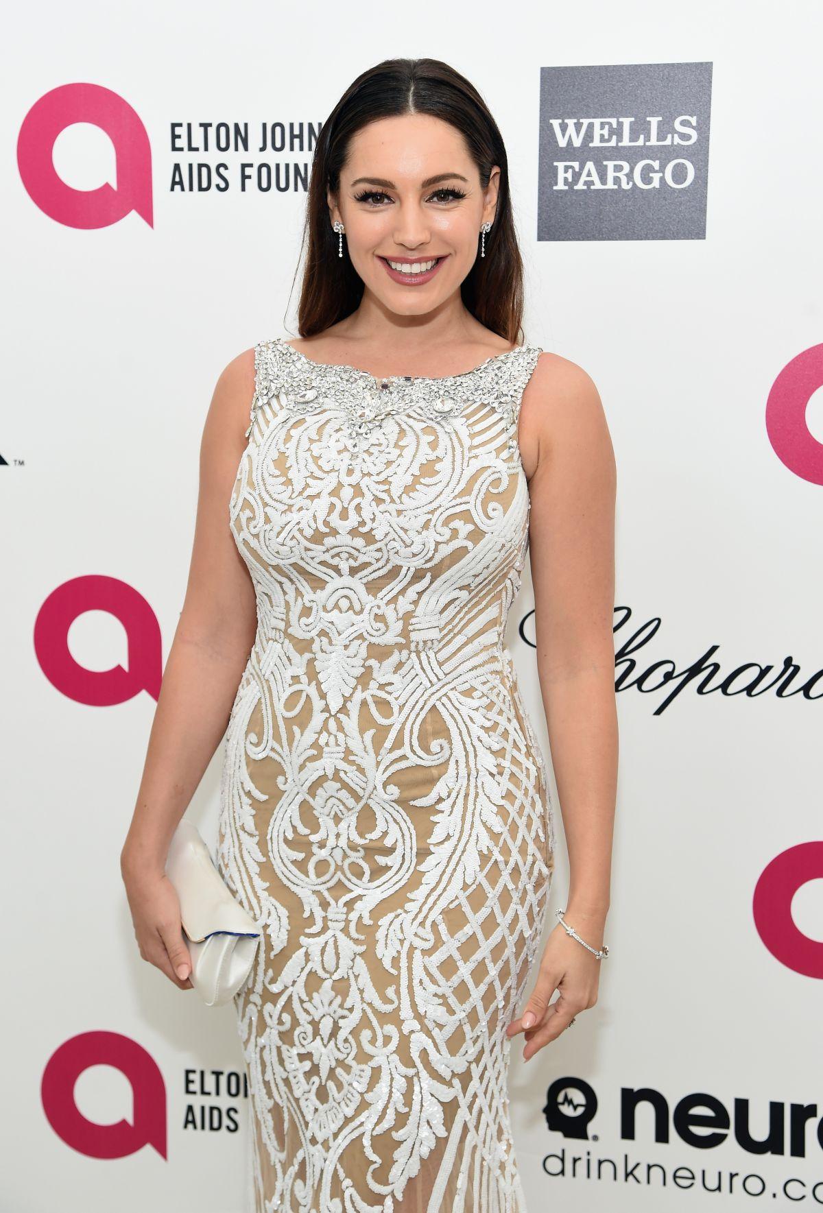 KELLY BROOK at Elton John Aids Foundation's Oscar Viewing Party