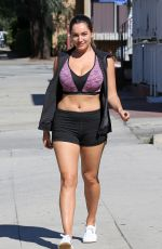 KELLY BROOK in Shorts and Tank Top Out in Los Angeles