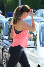 KELLY BROOK in Tight Leggings Arrives at a Gym in Los Angeles
