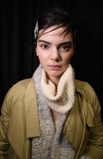 KENDALL JENNER in the Backstage of Vera Wang Fashion Show in New York