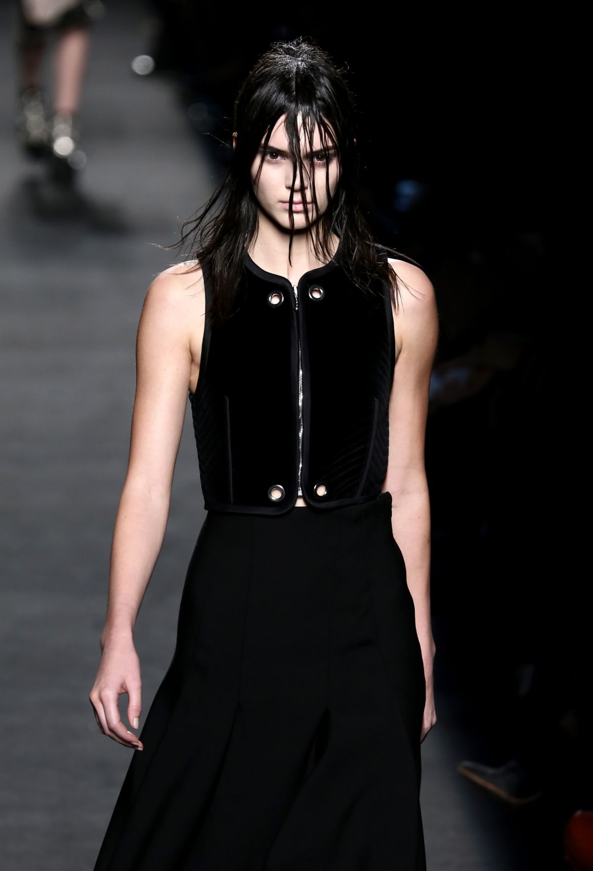KENDALL JENNER on the Runway of Alexander Wang Fashion Show in New York