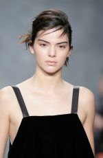 KENDALL JENNER on the Runway of Vera Wang Fashion Show in New York