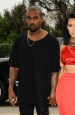 KIM KARDASHIAN and Kanye West Arrives at Roc Nation Pre-grammy Brunch in Beverly Hills