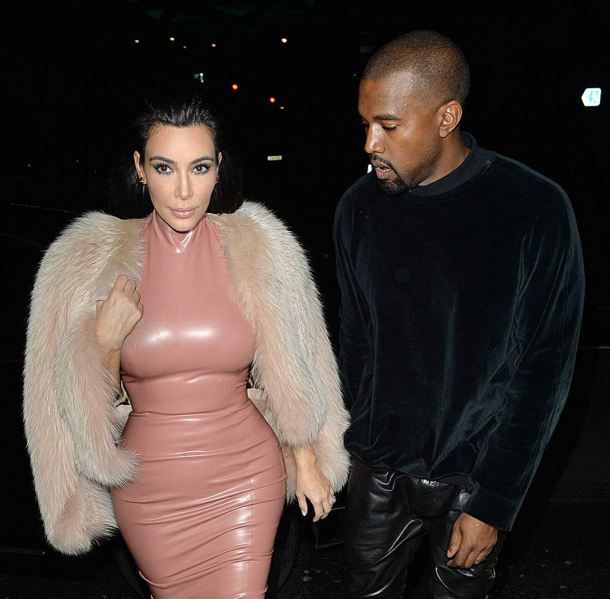 KIM KARDASHIAN and Kanye West Out and About in London 2602
