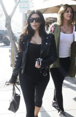 KIM KARDASHIAN Arrives at Il Pastaio Restuarant in Beverly Hills