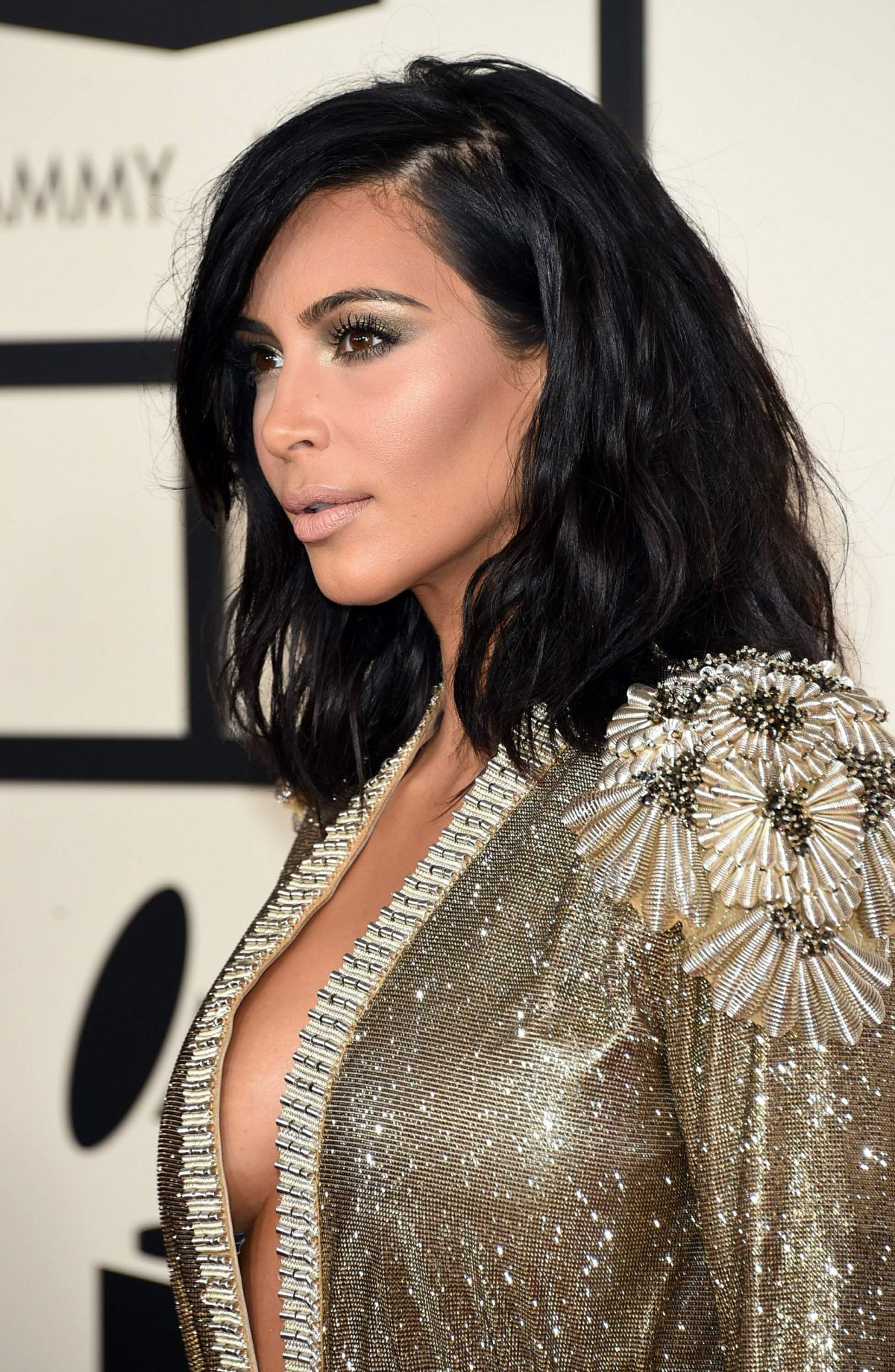 KIM KARDASHIAN at 2015 Grammy Awards in Los Angeles ... Kim Kardashian