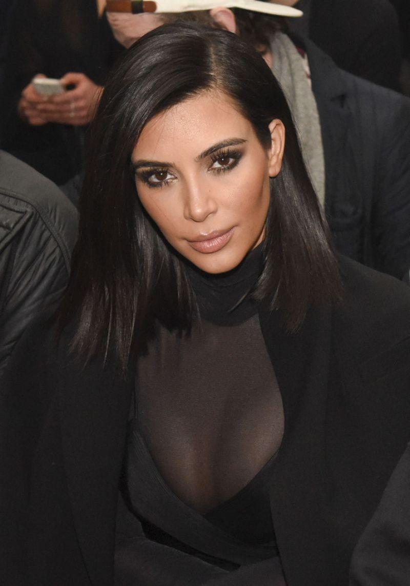 Kim Kardashian At Robert Geller Fall 2015 Fashion Show In New York Hawtcelebs
