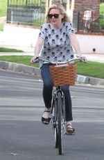 KIRSTEN DUNST Riding a Bike Out in Los Angeles