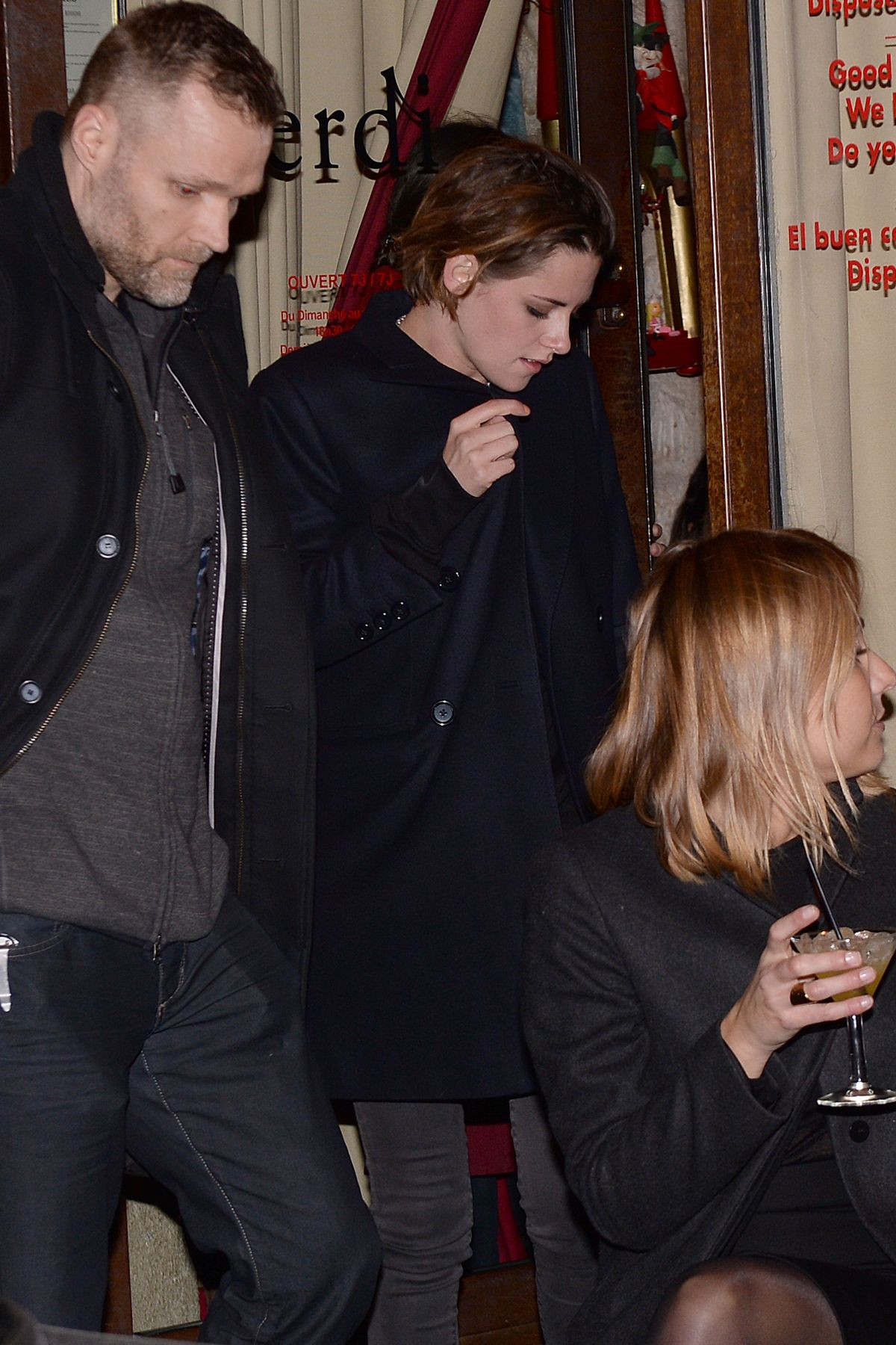 KRISTEN STEWART Nigh Out in Paris