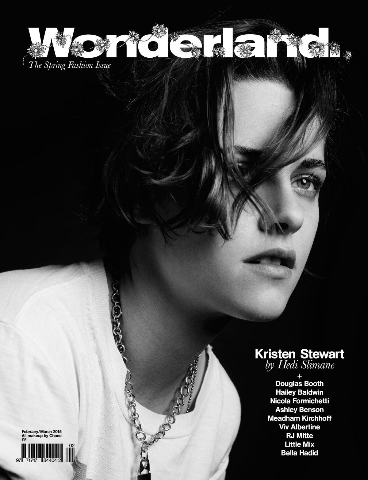 KRISTEN STEWART on the Cover of Wonderland Magazine, Spring 2015 Issue